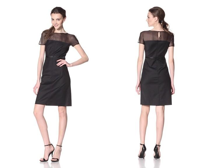 Les Copains White Label Lace Print Dress