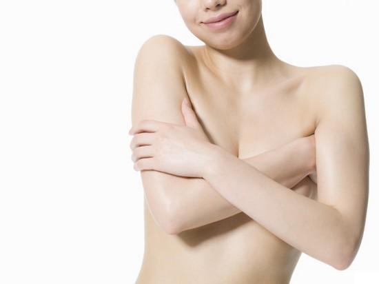 hiding breasts